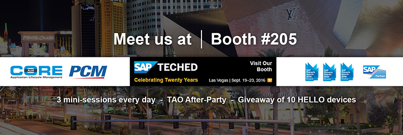 CoreALM At SAP TechEd 2016