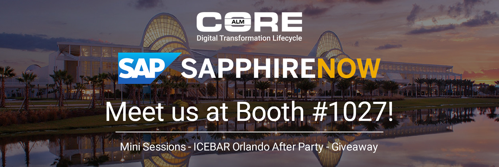 Join CoreALM At Sapphire 2017