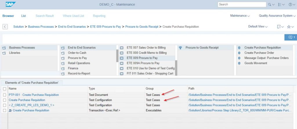 SAP SolMan Test Suite - Interface