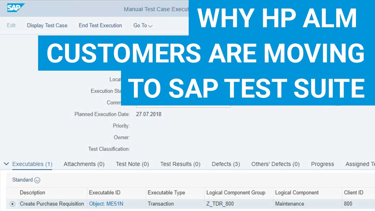 CoreALM | Why HP ALM Customers are moving to SAP Test Suite?